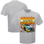 Kyle Busch Joe Gibbs Racing Team Collection Finish Line T-Shirt - Gray