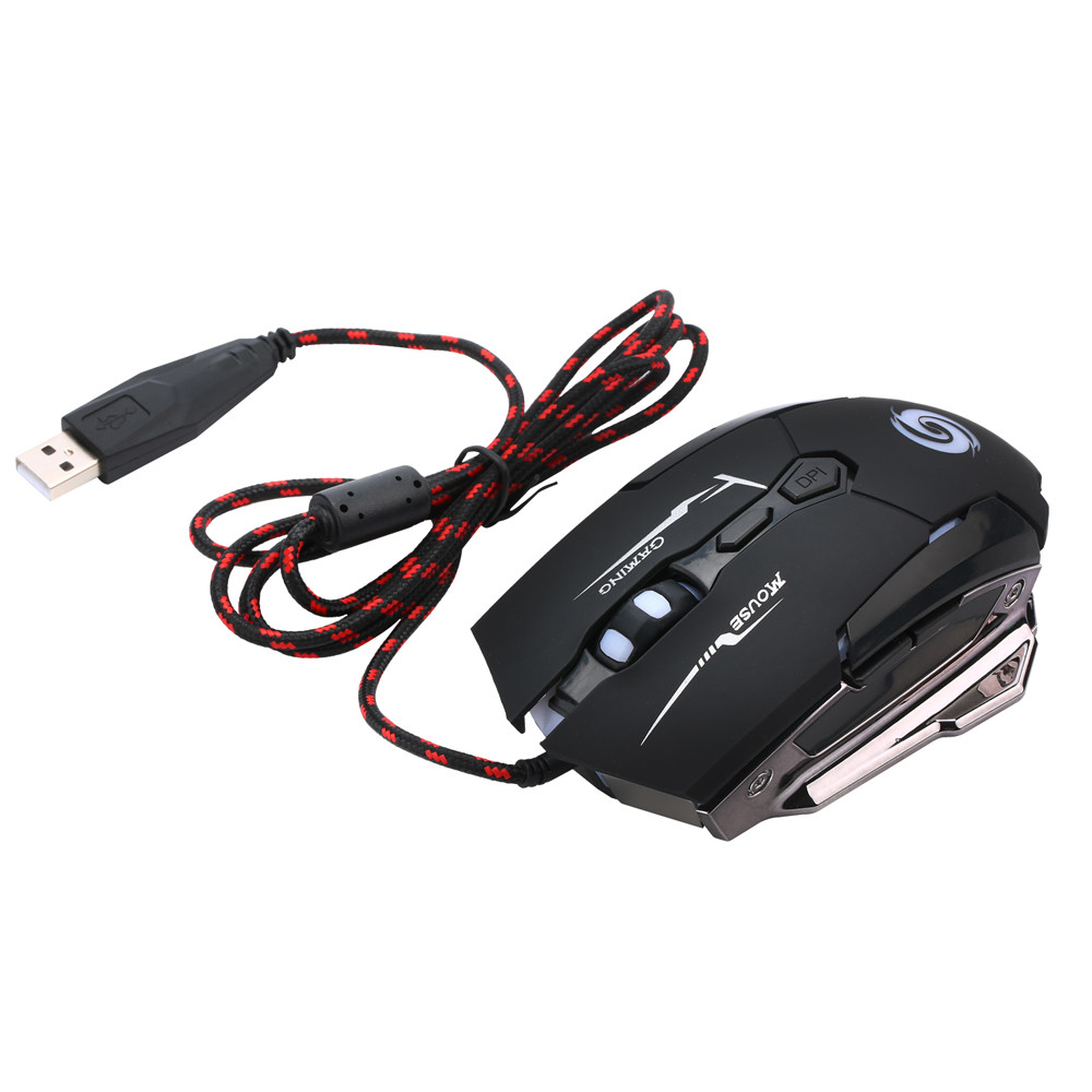 New Fashion 4000DPI LED Laser 7 Buttons USB Wired Pro Gaming Mouse for PC Laptop Computer