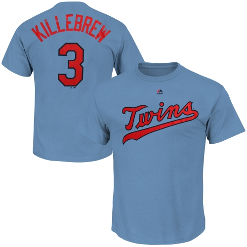 Harmon Killebrew Minnesota Twins Majestic Cooperstown Player Name & Number T-Shirt - Light Blue
