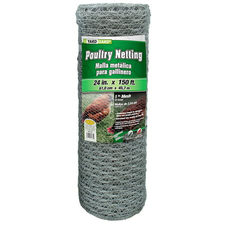 YARDGARD 2 Foot X 150 foot 1 Inch Mesh Poultry Netting ()