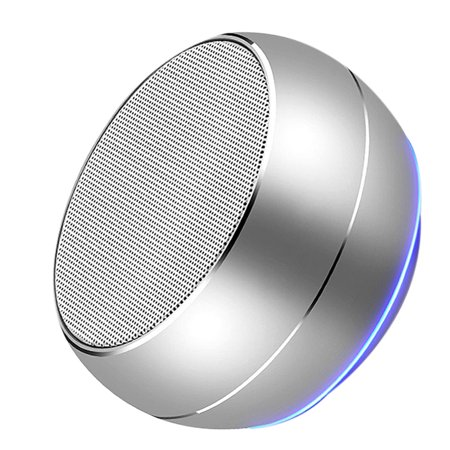 Homeholiday Bluetooth 4.1 Mini Round Type Metal Case Speaker Indoor Outdoor Portable Wireless Rechargeable Sound Box - image 3 of 8