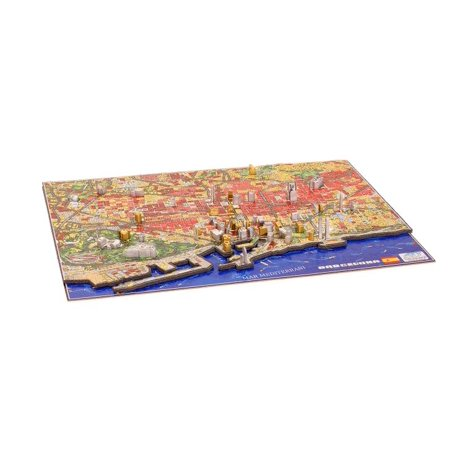 4D Cityscape Time Puzzle, Barcelona, Spain