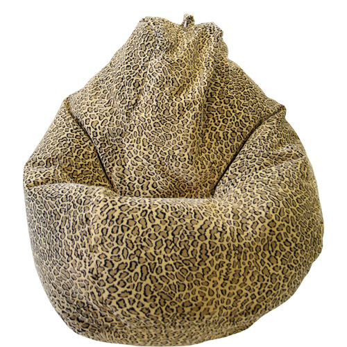 Large Tear Drop Safari Micro-Fiber Suede Bean Bag