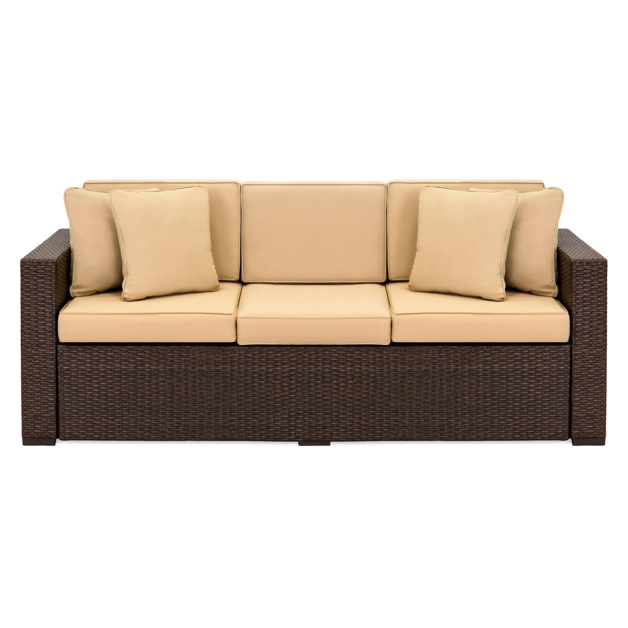 Seat Outdoor Wicker Patio Sofa