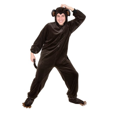 Plus Size Chimpanzee Mens Animal Halloween - Men Plus Size Costumes