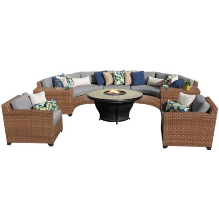 tuscan 8 piece outdoor wicker patio furniture set 08j