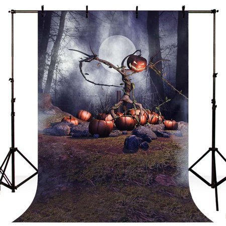 HelloDecor Polyster 5x7ft Photography Background Halloween Horror Night Theme Party Backdrop Studio Background