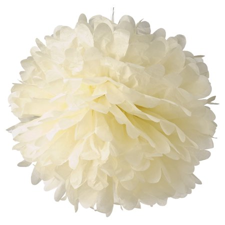 Lula Party (Luna Bazaar Tissue Paper Pom Pom (20-Inch, Ivory) - For Baby Showers, Nurseries, and Parties - Hanging Paper Flower)