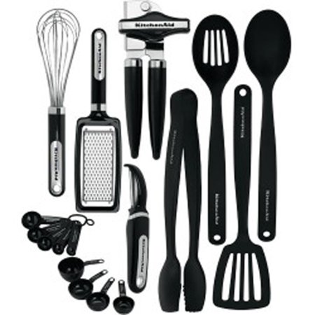 LIFETIME BRANDS KC448BXOBA 17Piece Black Kitchen Tool Set