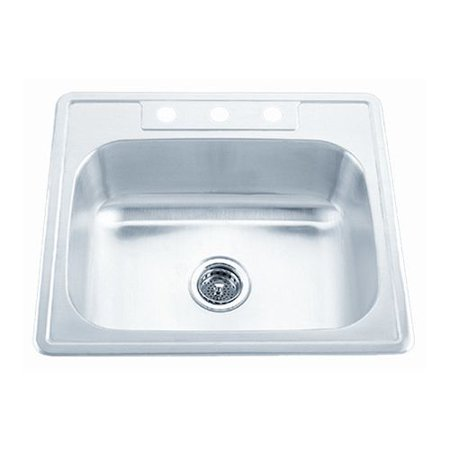 Proflo Pfsr2522654 25 Single Basin Stainless Steel Kitchen Sink With 4 Holes Drilled