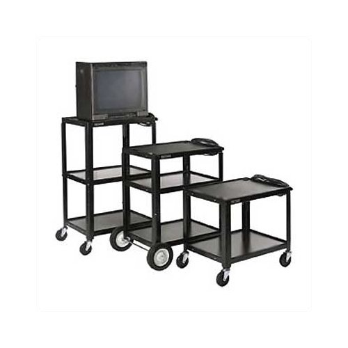 Luxor Open Shelf Fixed Height Table AV Cart