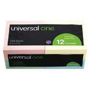 "UNIVERSAL ONE UNV35669 Note,Self Stick,3""x3"",Assrtd,PK12"