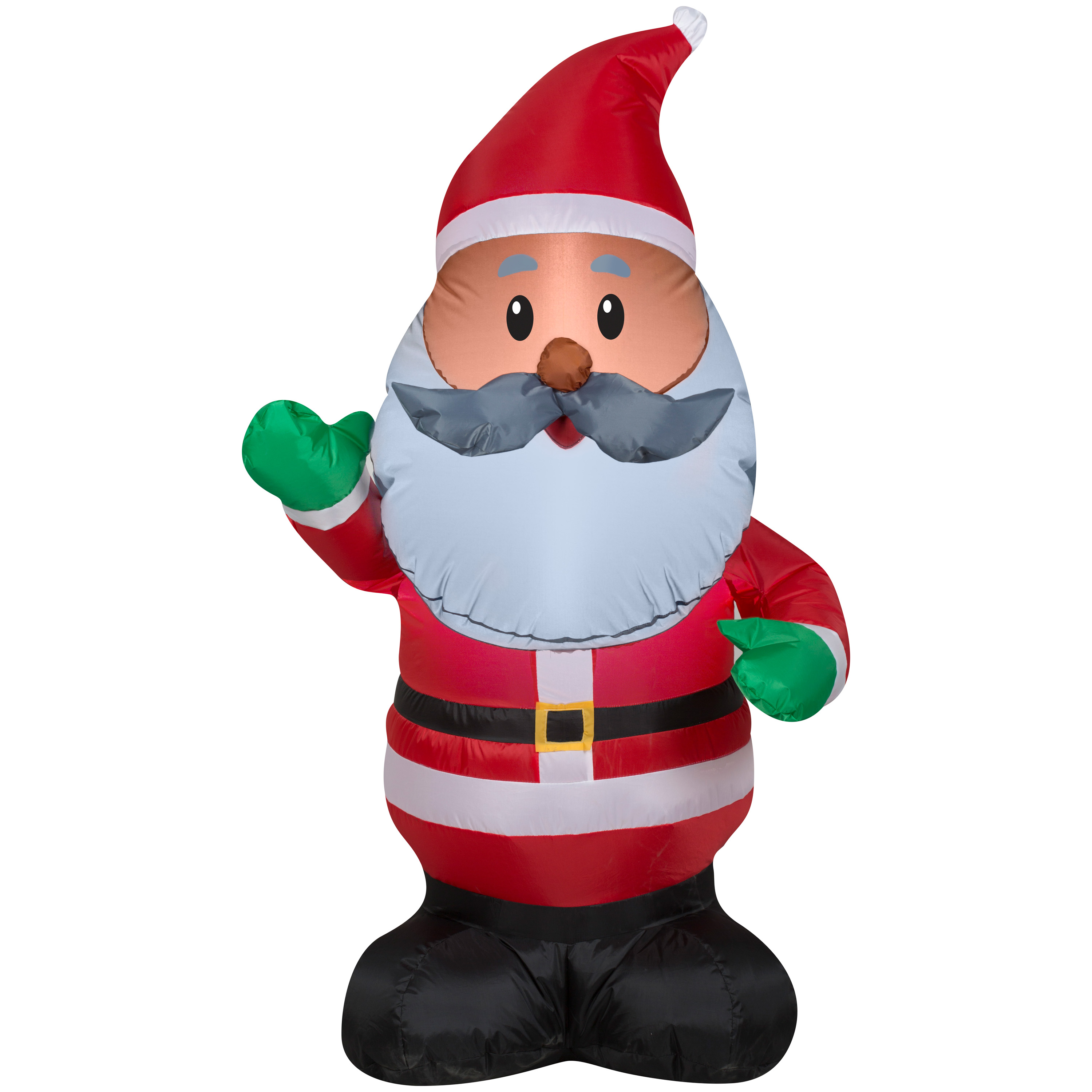Airblown inflatable african american santa ft tall by
