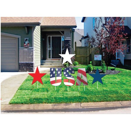 Aahs Engravings Independence Day Yard Signs, Outdoor Decorations