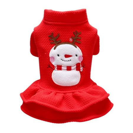 Dog Wedding Outfits (Taykoo Pet Dog Christmas Costume Princess Dress Clothes 2-legged Cute Apparel Christmas)