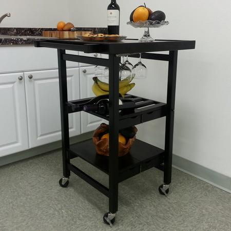 oasis concepts folding entertainer kitchen cart. Black Bedroom Furniture Sets. Home Design Ideas