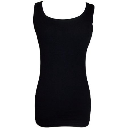 9d89ec9ce6e PacificPlex - Long And Lean Ribbed Cotton Tank Top Junior Plus Size -  Walmart.com