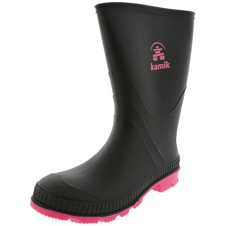 Kamik Stomp Black / Magenta Mid-Calf Rain Boot - 5M](Boots 70 Sale)