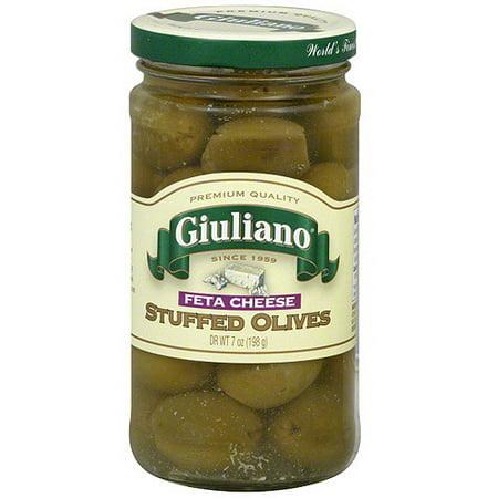 Giuliano Feta Cheese Stuffed Olives, 7 oz (Pack of 6) (Feta Cheese Olives)