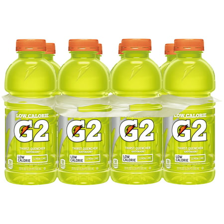 Gatorade G2 Thirst Quencher Low Calorie Lemon Lime Sports Drink  8 Count  20 Oz Bottles