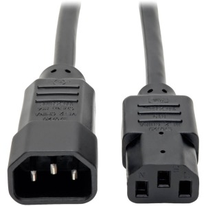 Tripp Lite 8ft Computer Power Extension Cord (IEC-320-C14 to IEC-320-C13)