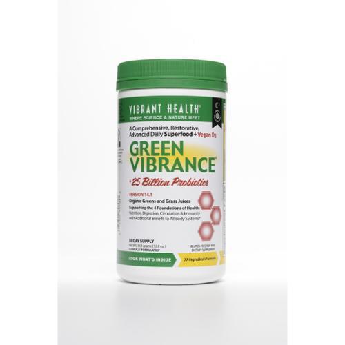 Green Vibrance powder 30 day supply Vibrant Health 12 oz Powder