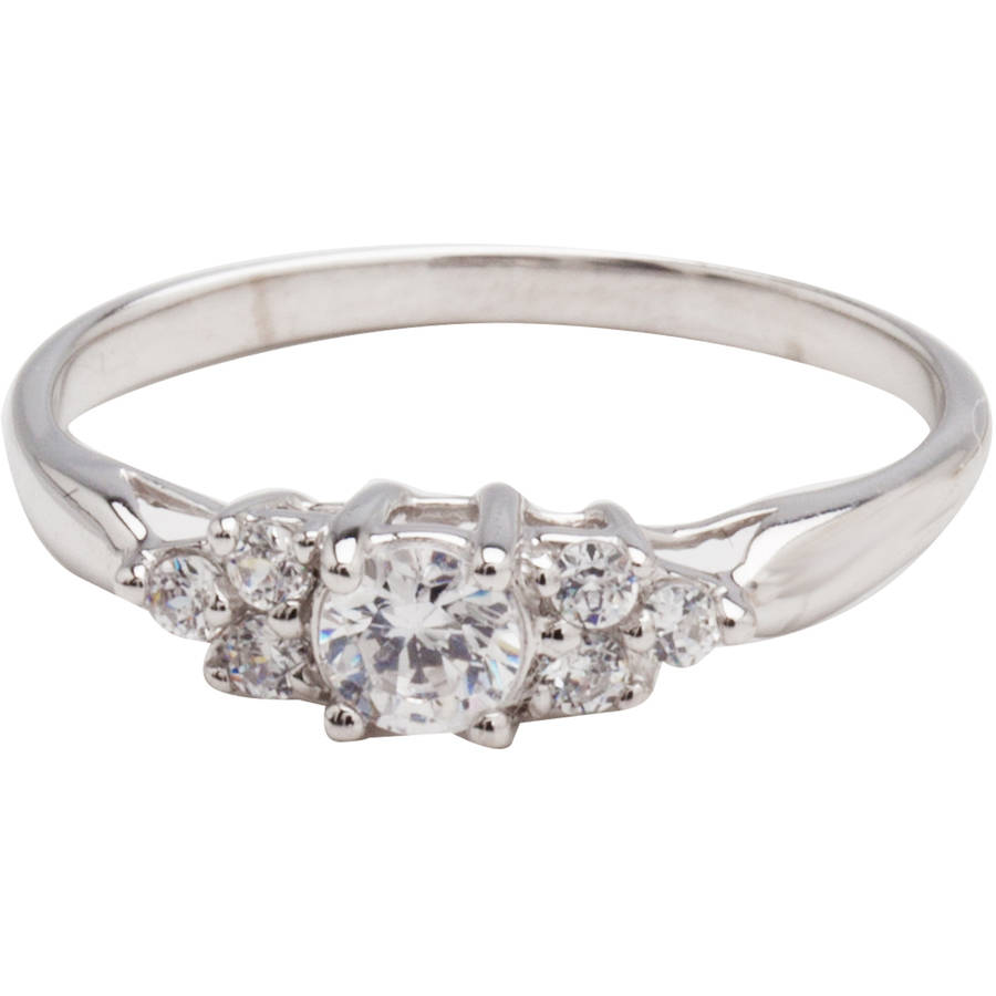 Believe by Brilliance .69 Carat T.G.W. Cubic Zirconia 10kt White Gold Engagement Ring by Richline Group Inc