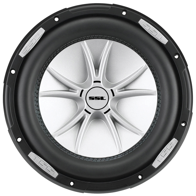 "Soundstorm SLR8DVC SLR Series Dual 4Ω Voice-Coil Subwoofer with Polypropylene Cone, 8"", 1,000 Watts"