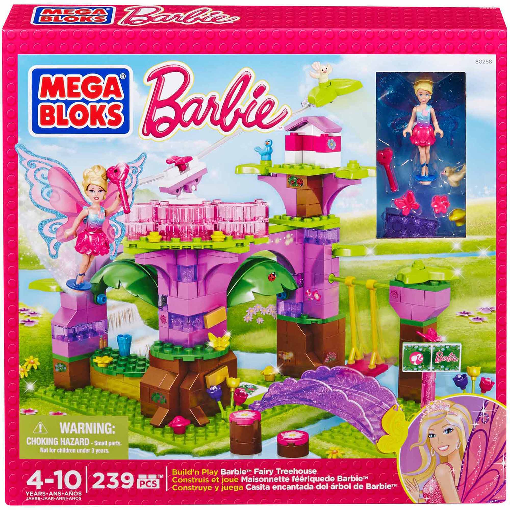Mega Bloks Barbie Fairy Treehouse - Walmart.com