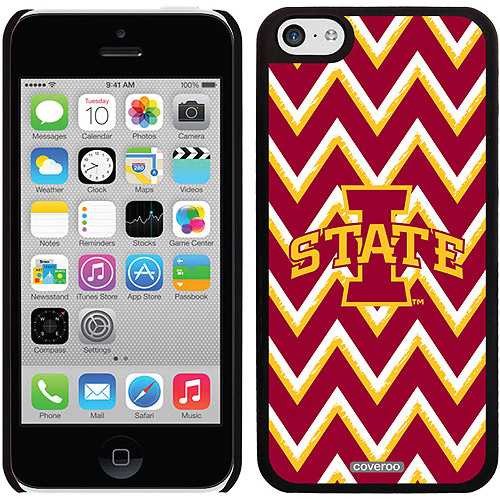 Iowa State Sketchy Chevron Design on iPhone 5c Thinshield Snap-On Case by Coveroo