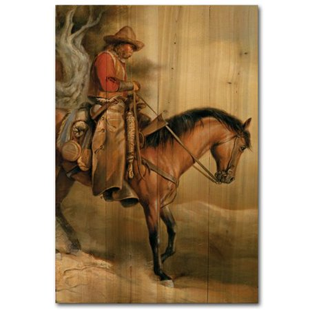 WGI-GALLERY Long Road Home by Russ Docken Painting Print Plaque