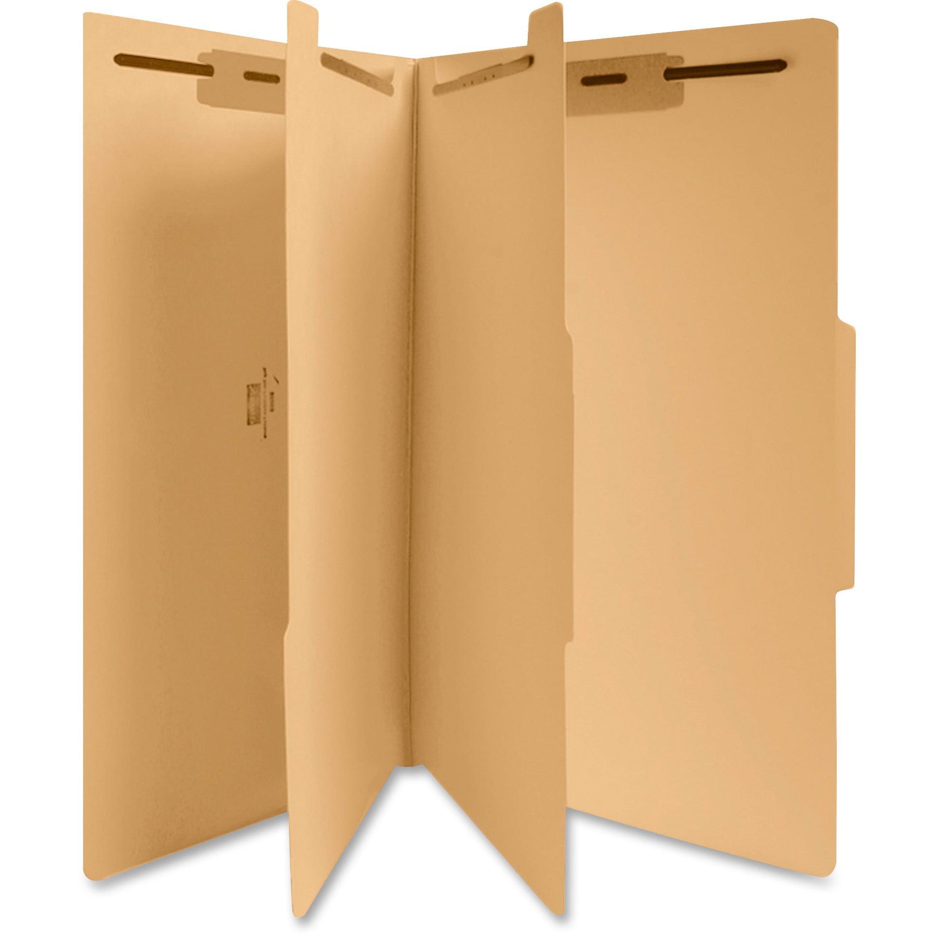 Business Source, BSN95008, 6-Part Manila Classification Folders, 25 / Box