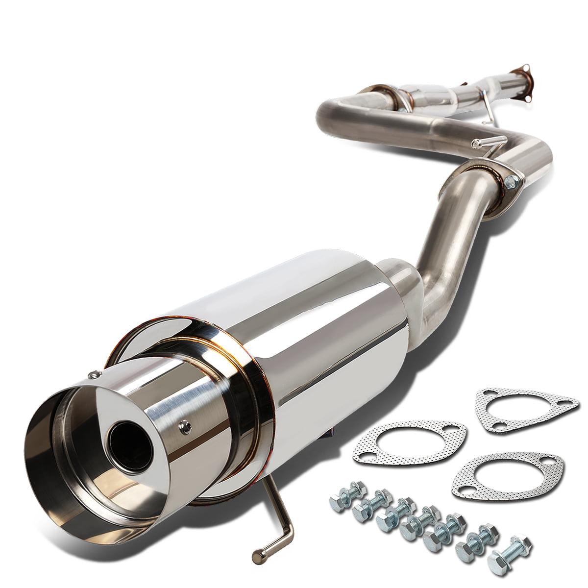 "For 92-00 Honda Civic EG 2/4-Door 4.5"" Muffler Tip Catback Exhaust System 93 94 95 96 97 98 99"