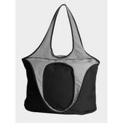 Peerless VEST001-Black-Gray Village Zipper Tote Bag, Black And Gray
