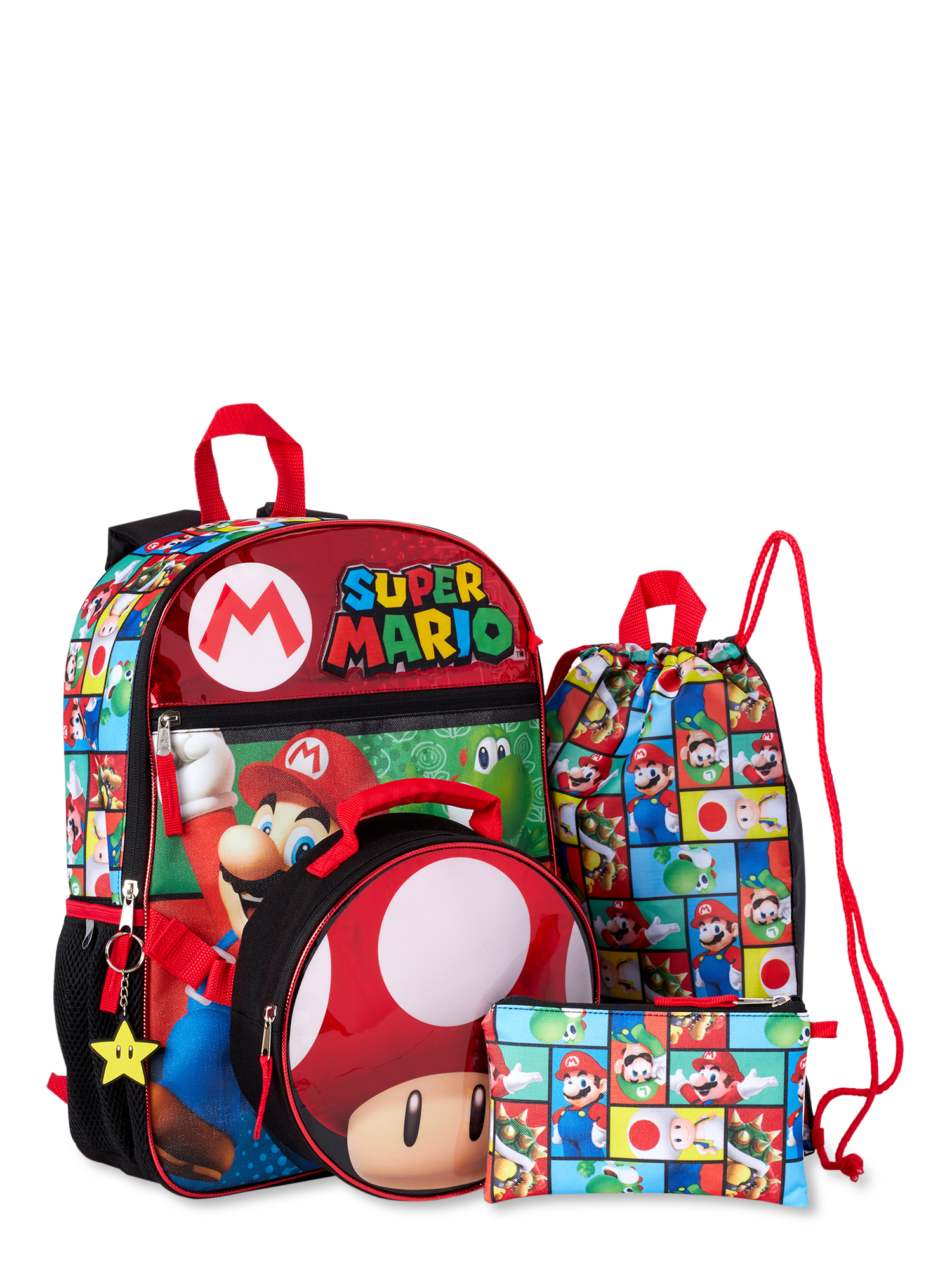 Super Mario 5 Piece Backpack Set ONLY $12.99 (Reg $17) | Back to School