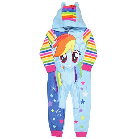 My Little Pony The Movie Rainbow Dash Magical Dream Big Girls Hooded Pajama (Kate Spade Dream A Little Dream Pajamas)