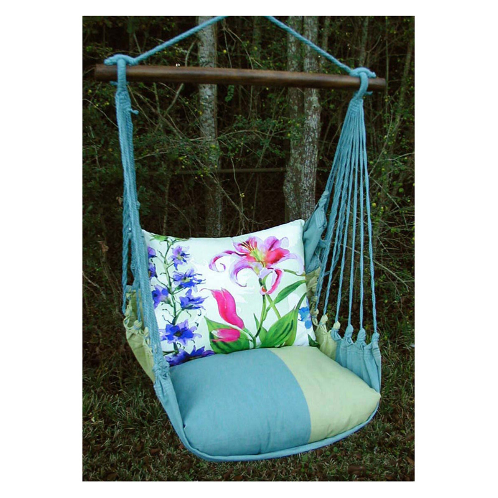 Magnolia Casual Meadow Mist Hammock Chair and Pillow Set