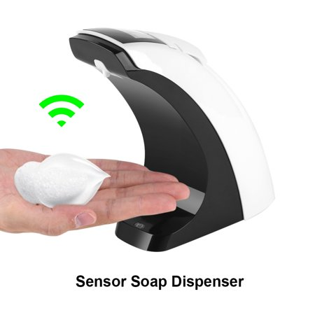Cergrey Distributeur de savon de salle de bain, distributeur de savon de capteur, récipient automatique de cuisine de salle de bains de capteur de désinfectant liquide de distributeur automatique - image 6 de 13