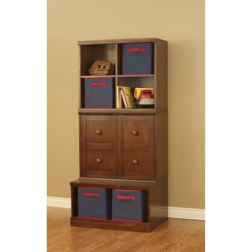 Makena 3 Piece - Modular Storage Open Base - Open Quad Cube and Shelf with Doors Cube