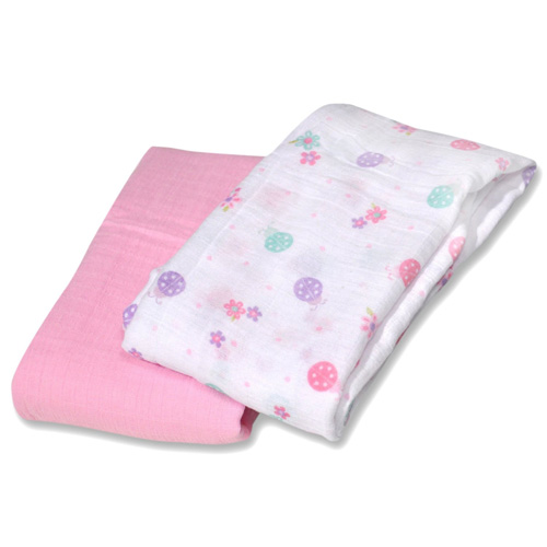 Little Lady SwaddleMe Muslin Blanket