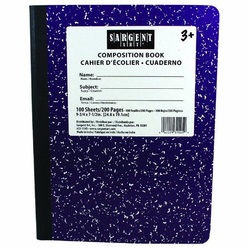 Sargent Art  Inc. SAR231545 Purple Composition Book 100 Sheets