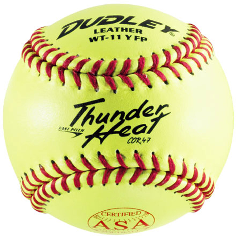 "Dudley 11"" ASA Yellow Fastpitch Softball (Dozen)"