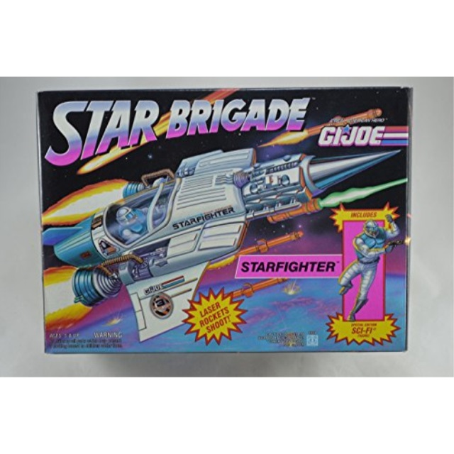 3 3 4 Inch GI Joe Star Brigade STARFIGHTER Space Fighter Jet W Exclusive SCI-FI Action Figure 1993 Hasbro by