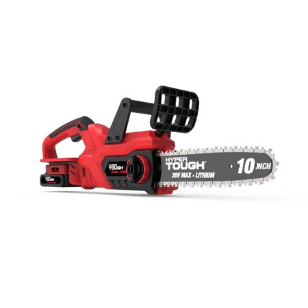 Hyper Tough 20V Max Cordless 10-Inch Self-Lubricating Chainsaw