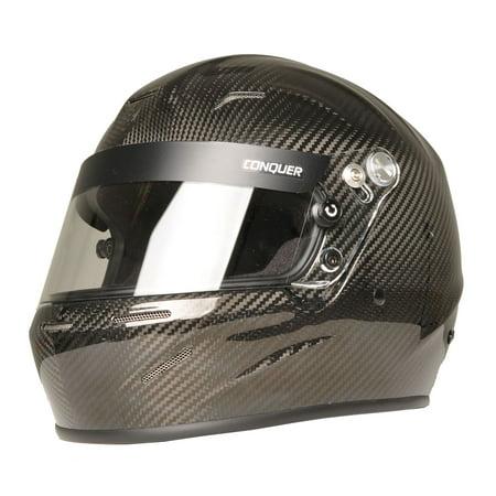 Hood Full Carbon Fiber - Conquer Carbon Fiber Full Face Auto Racing Helmet Snell SA2015