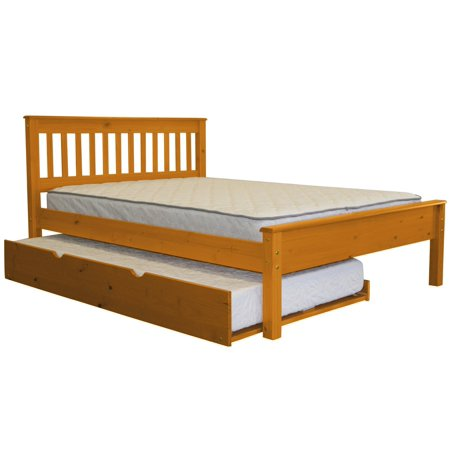 BK Mission Style Full Bed with a Twin Trundle (Full Size Bed With Trundle Bedroom Set)
