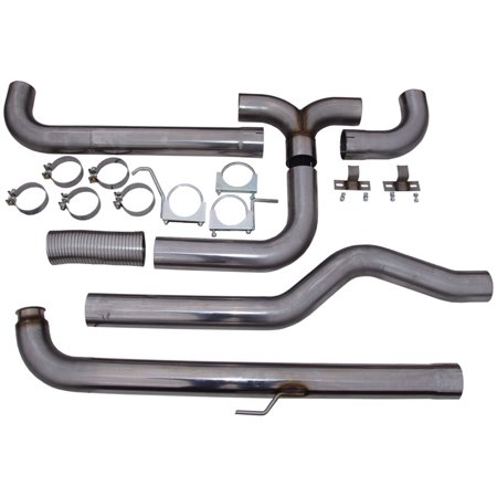 Mbrp Smokers Stack - MBRP 2001-2007 Chev/GMC Duramax Down Pipe Back Dual SMOKERS (incl. front pipe)
