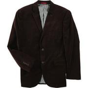 Alfani Mens Velvet Two Button Blazer Jacket, Red, 38 Regular