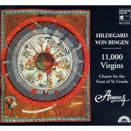 This Program Is Also Available On Cassette As Harmonia Mundi 407200 This Selection Is Also Available On Super Audio Cd Format It Might Be Said That If There Had Been No Hildegard Von Bingen Someone Would Have Had To Invent Her  But  If She Had Been Invented  No One Would Have Believed It   And Yet  What Is More Remarkable  That This Benedictine Nun Founded Two Convents  Authored Books Of History  Language  Medicine And Poetry  Painted  Had Strange Visions And Challenged The Seats Of Power  Or  That Nearly A Thousand Years After Her Birth She Has Suddenly Become The Best Known Composer Of The Medieval World Hildegards Seventy Odd Musical Compositions  Published As The Symphony Of The Harmony Of Celestial Revelations Are All Monophonic Sacred Vocal Works  But They Are Chants With A Twist   Full Of Brilliant Poetic Images  They Feature Wide Ranging  Ornamented Melodies And Surprising Leaps  Creating A Mood That Might Be Called Ecstatic   11 000 Virgins Places Seven Of These In The Context Of A Program Of Chants For The Feast Of Saint Ursula   Anonymous Four Sings Them With Their Characteristic  Almost Uncanny Purity  Adding Occasional Drones And Harmonies To Vary The Texture