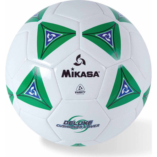 Mikasa Soft Soccer Ball, Size 4, Green White by S&S